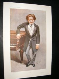 Vanity Fair Print 1908 Mark Hambourg, Music
